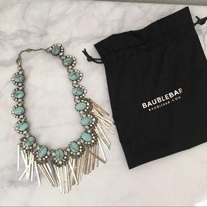 BaubleBar Fringe Necklace in Distressed Silver